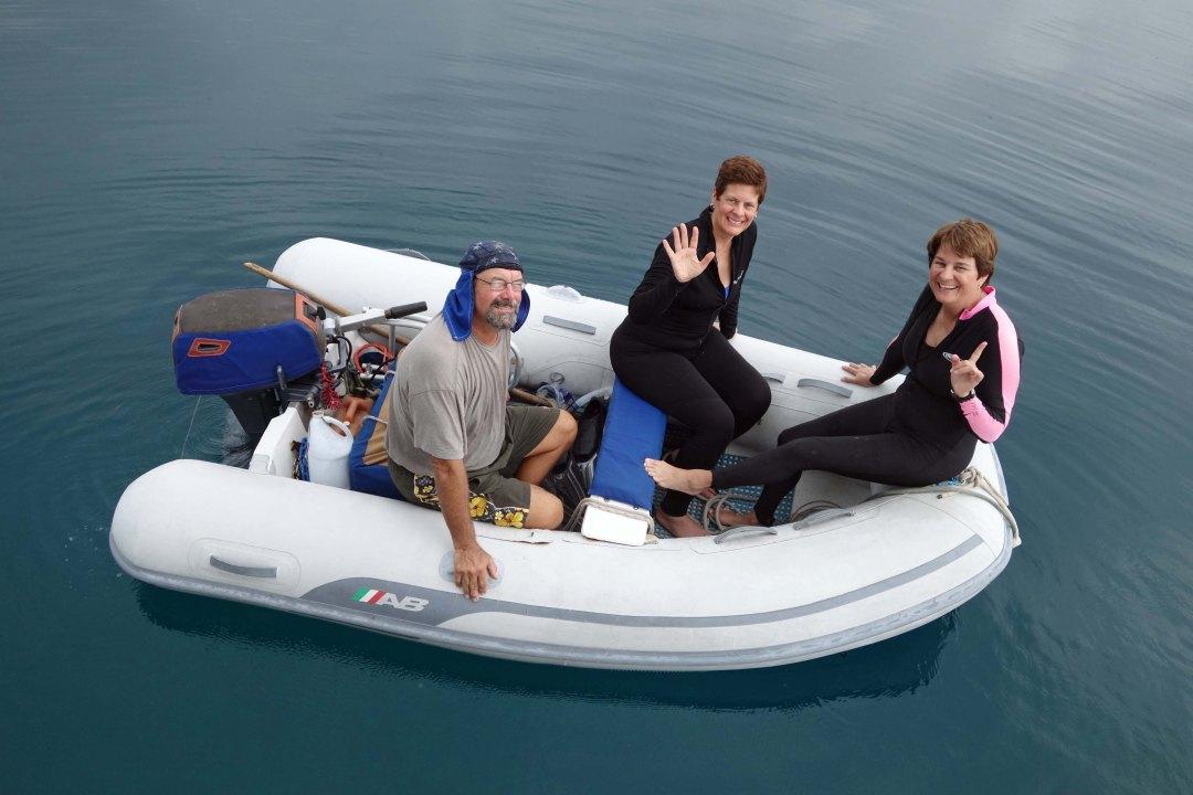 Dingy ride to snorkel site, Guna Yala, Panama, C.A.