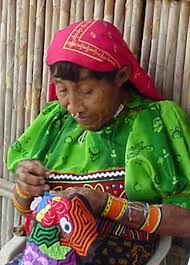 Guna woman in traditional garb