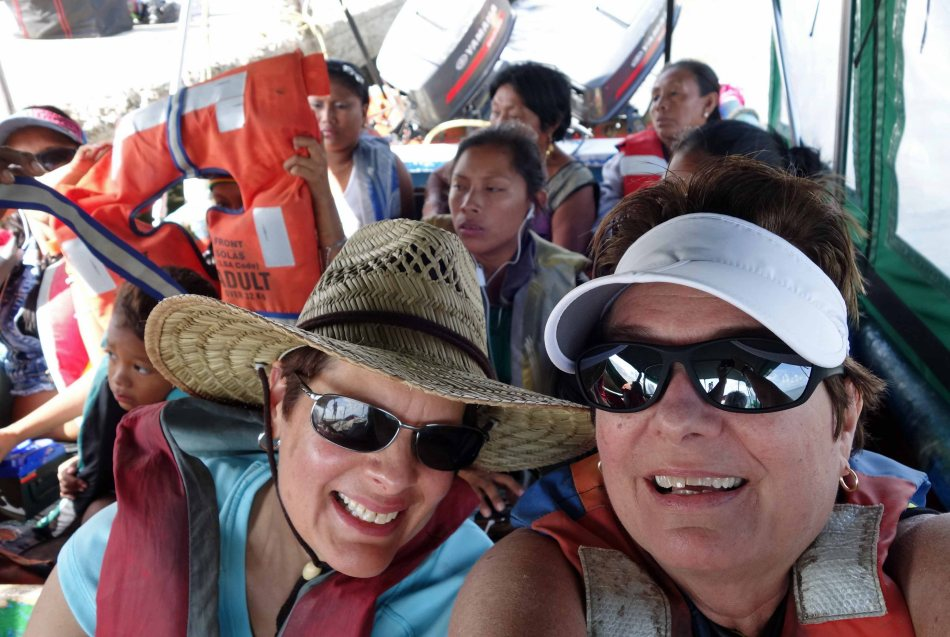 Launcha ride to our host boat in the Guna Yala, Panama