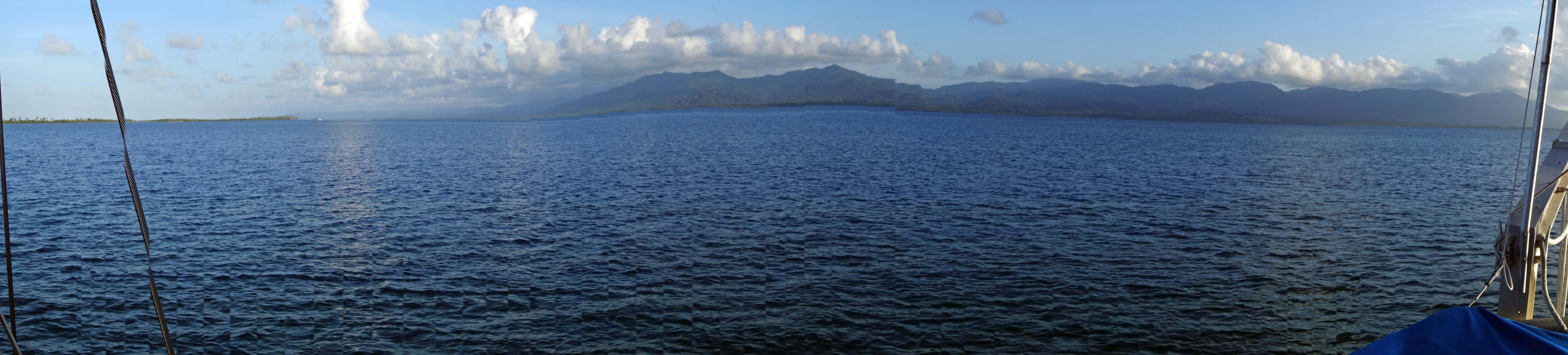 Darien Gap, Panama viewed from a sailboat, Guna Yala islands, Panama, C.A.