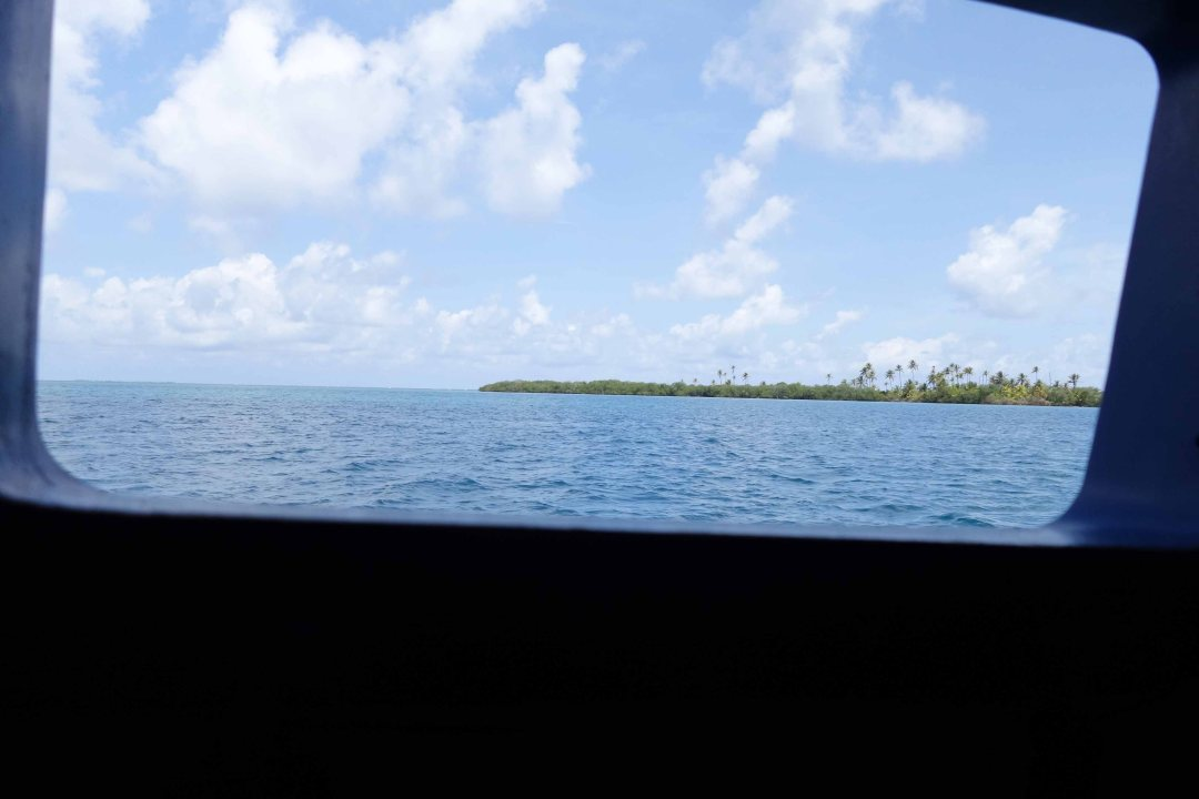 Porthole view, Guna Yala islands, Panama, C.A.