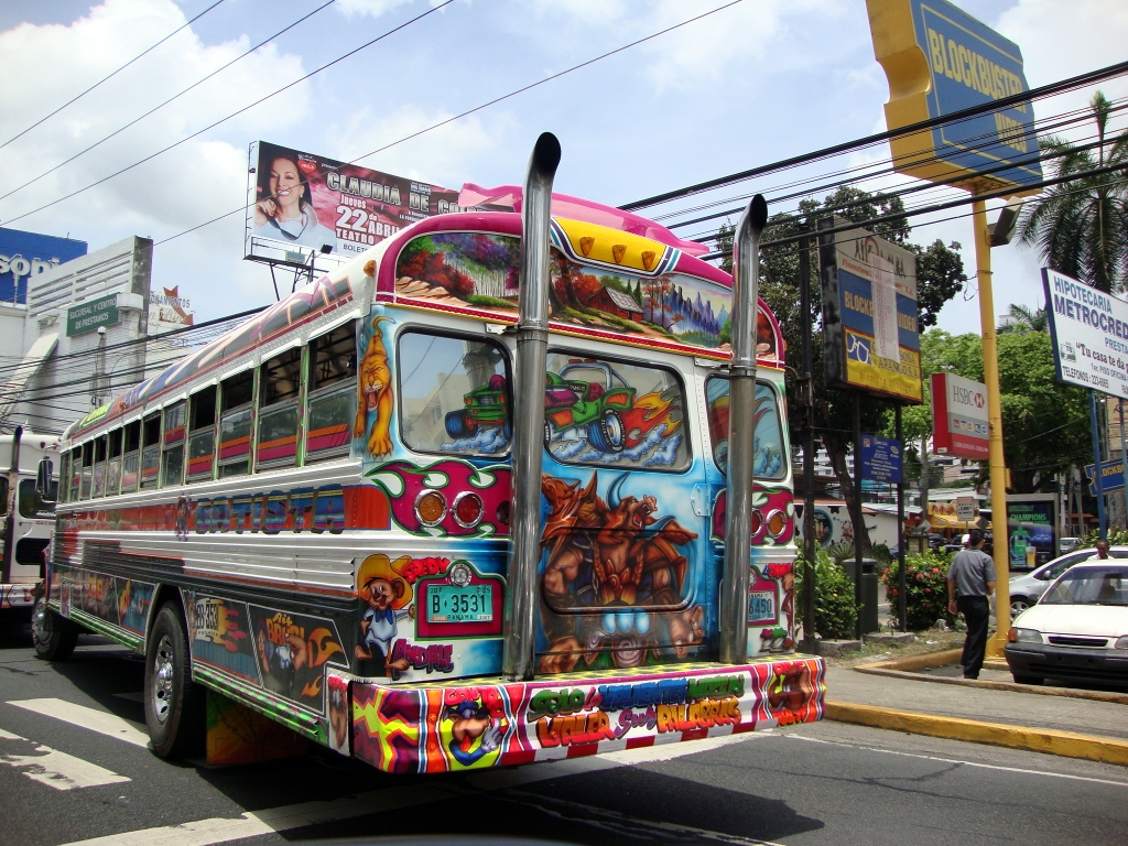 Red Devil bus, Panama City, Panama