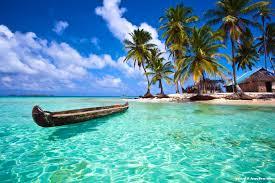 Guna Yala island image from recent past, Panama, C.A.