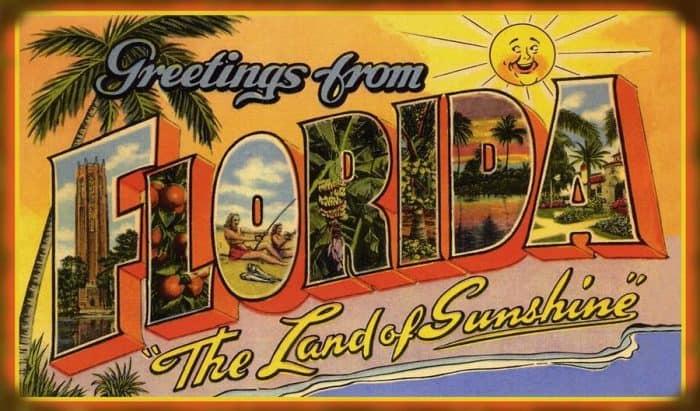 Vintage Florida Postcard, circa 1960s.