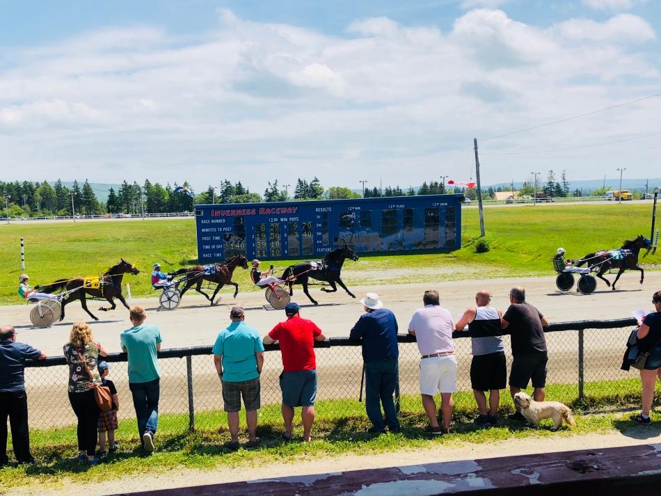 Harness race, Inverness, Cape Breton Island.