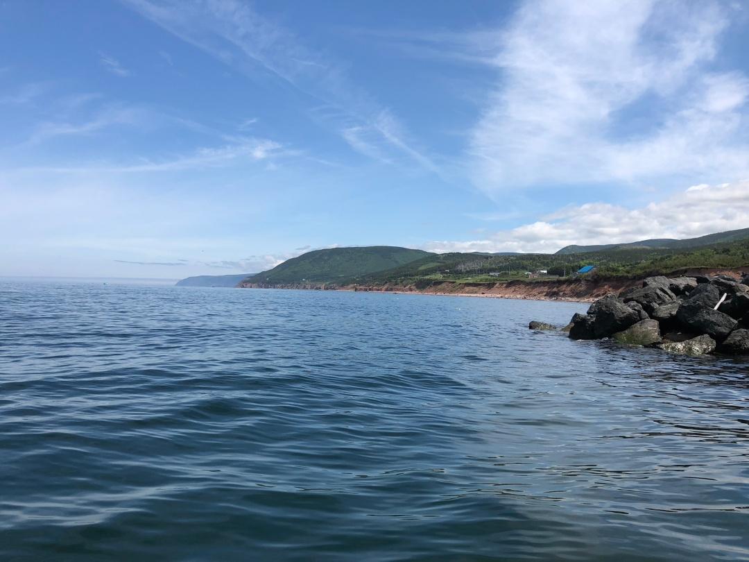 Pleasant Bay harbor mouth, Cape Breton island.