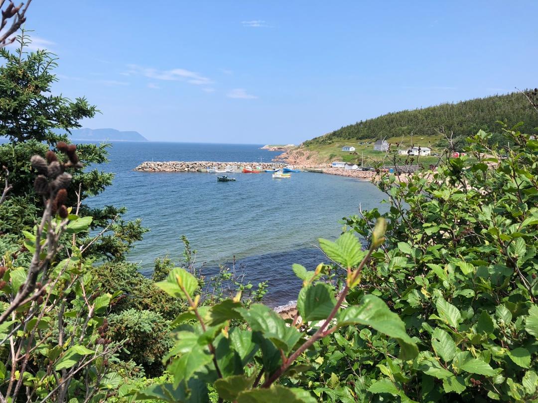 White Point harbor, Cape Breton island.
