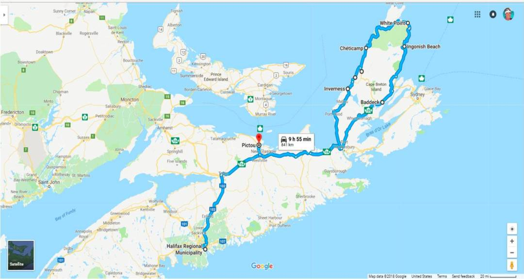 NS route map