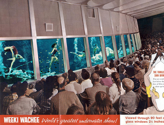 Weeki Wachee underwater theater, Florida in the 1960s.
